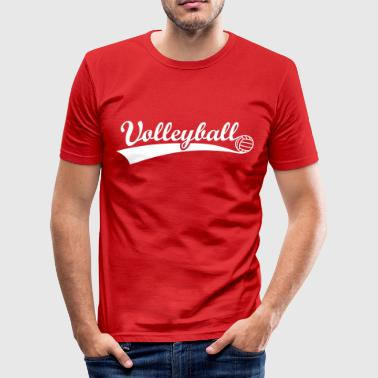 Volleyball bold  - Herre Slim Fit T-Shirt