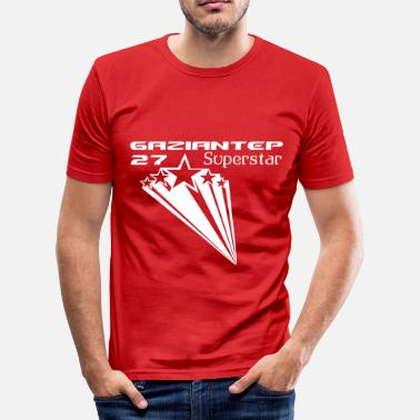 Gaziantep 27 GAZIANTEP 27 SUPERSTAR - Männer Slim Fit T-Shirt