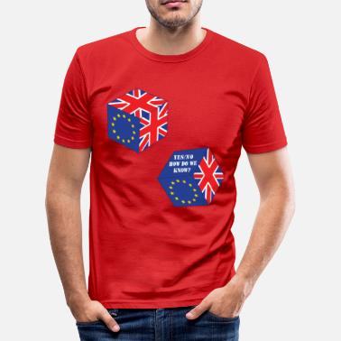 Funny EU Referendum Roll of the Dice - Men's Slim Fit T-Shirt
