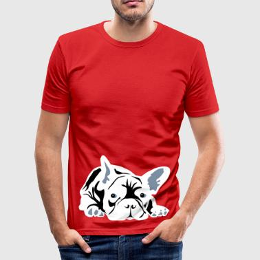French Bulldog - Men's Slim Fit T-Shirt
