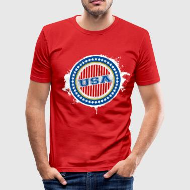 USA - United States of America - Men's Slim Fit T-Shirt