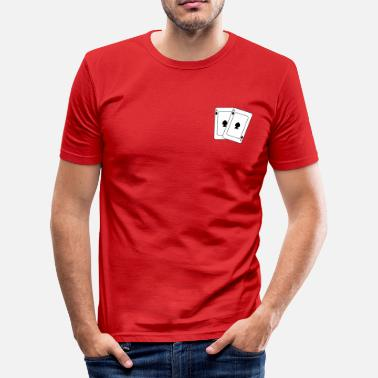 Gift Card Poker cards playing cards - Men's Slim Fit T-Shirt