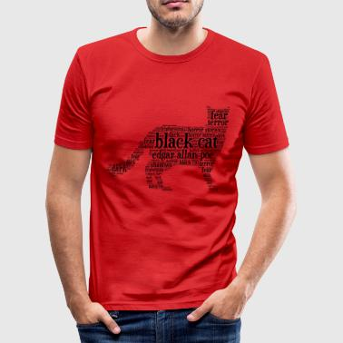 Poe zwarte kat Edgar Allan Poe word cloud - slim fit T-shirt