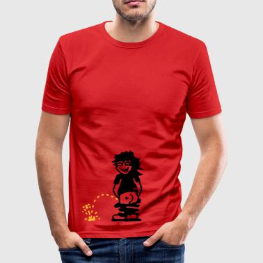 Manneke Pis mannetje pis / little man piss (2c) - slim fit T-shirt