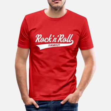 Rock 'n' Roll Family (Famille De Rock And Roll) - T-shirt près du corps Homme