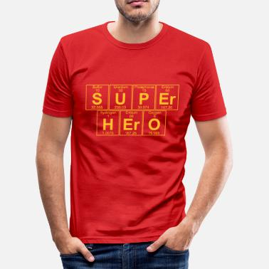 Geek S-U-P-Er H-Er-O (super hero) - Full - T-shirt moulant Homme