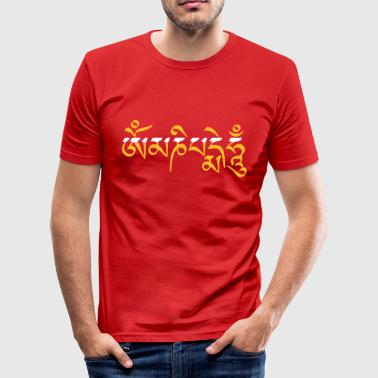 Om Mani Padme Hum 3c - Slim Fit T-skjorte for menn