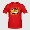 BOOM!, Comic Style Speech Bubble Bang, Kapow, Pow - Men's Slim Fit T-Shirt