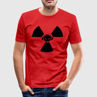 Radioactive DJ symbol - Men's Slim Fit T-Shirt