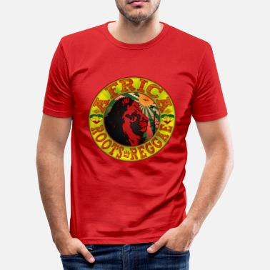 Vibe Root africa roots reggae - Men's Slim Fit T-Shirt