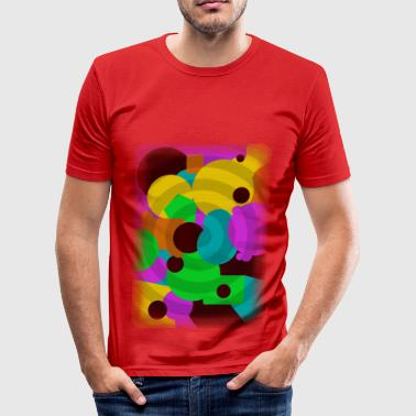 Circles - Männer Slim Fit T-Shirt