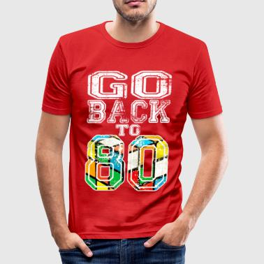 Go back to 80 - Tee shirt près du corps Homme