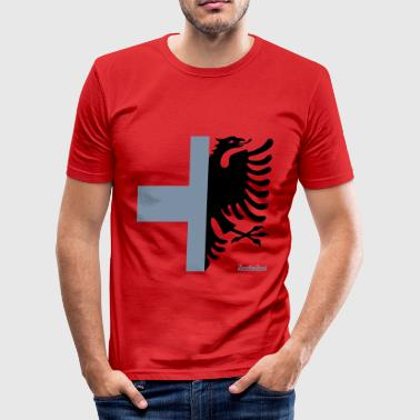 Evan Albania Switzerland Francisco Evans ™ - Men's Slim Fit T-Shirt