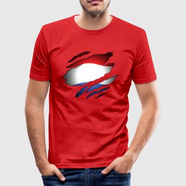 Dutch Inside: Vlag - slim fit T-shirt