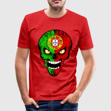 Portugal skull - Tee shirt près du corps Homme