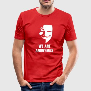 Anonymus anonymus masker anti Demo politiek white.Face - slim fit T-shirt