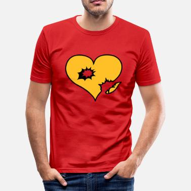Explosion heart love explosion - slim fit T-shirt