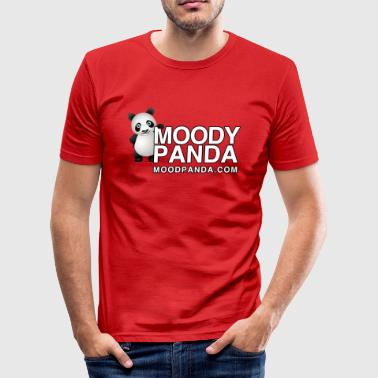 Moody Panda - Men's Slim Fit T-Shirt