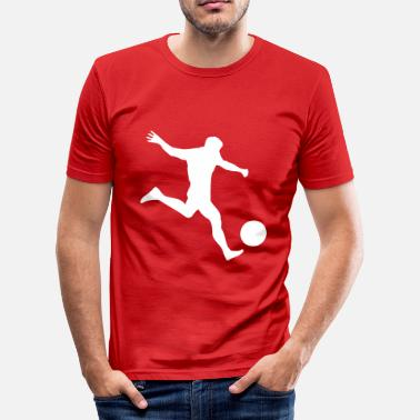 Kule Fotball fotball - Slim Fit T-skjorte for menn