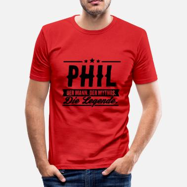 Phil Man Myte Legend Phil - Herre Slim Fit T-Shirt