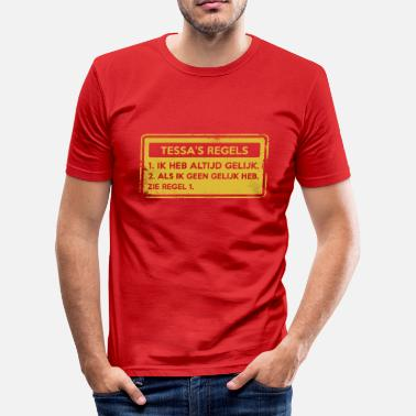 Tess Tessa regler. Original gave. - Slim Fit T-skjorte for menn