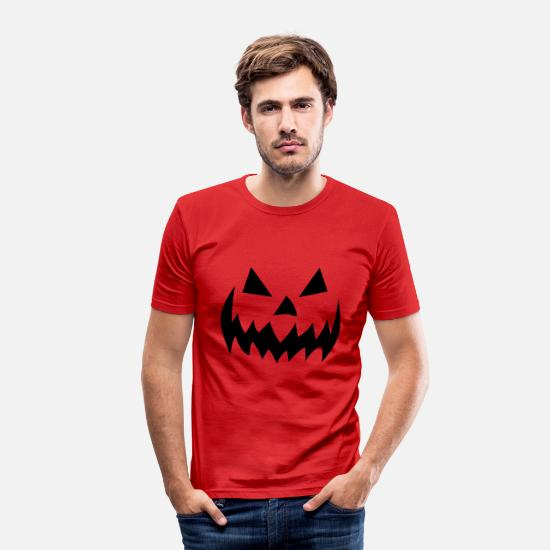 Birthday T-Shirts - Halloween Pumpkin Guerilla Head Freddy - Men's Slim Fit T-Shirt red