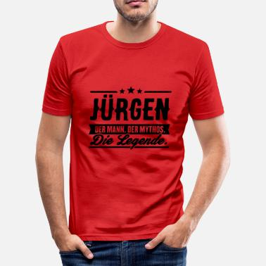 Jürgen Gift Man Myth Legend Jürgen - Men's Slim Fit T-Shirt