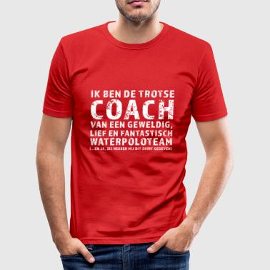 Trotse Coach Waterpoloteam - slim fit T-shirt