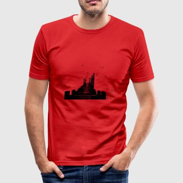 The Pier - Männer Slim Fit T-Shirt