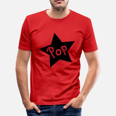 Pop Rock POP - Slim Fit T-skjorte for menn