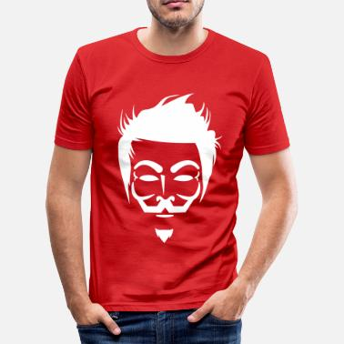 V For Vendetta Anonymous Hipster - T-shirt près du corps Homme