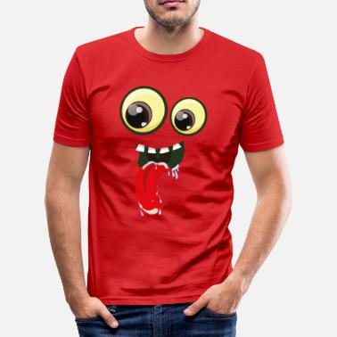 Mouth Tongue Eyes with mouth and tongue - Men's Slim Fit T-Shirt