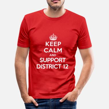 District 12 Keep calm and support District 12 (Hunger Games) - Miesten tyköistuva t-paita
