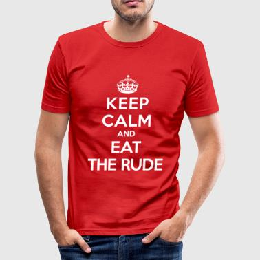 Keep calm and eat the rude (Hannibal) - Obcisła koszulka męska