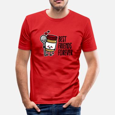 Butter Best friends forever peanut butter / spoon BFF - Men's Slim Fit T-Shirt