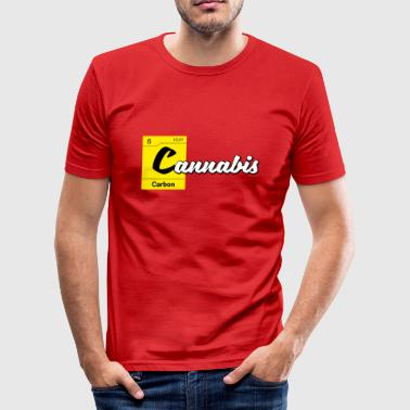 Carbon Cannabis Periodic Table Carbon - slim fit T-shirt