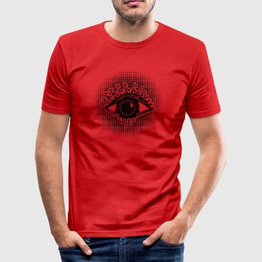 Eye, symbol protection, wisdom, healing & strength - Herre Slim Fit T-Shirt