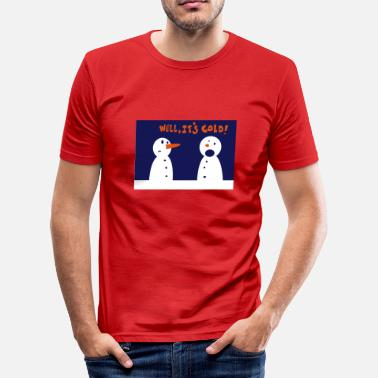 Envy Snowmen carrot envy - Men's Slim Fit T-Shirt