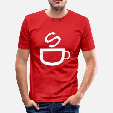 Bistro Cafe | coffee | Bistro | restaurang | Kaffetasse - T-shirt slim fit herr