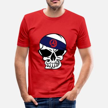 Anarcho-punk Anarchoskull Skull anarchie anarcho anarchy 3c - Men's Slim Fit T-Shirt