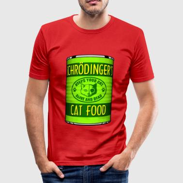 Schrödingers Cat Food - Männer Slim Fit T-Shirt