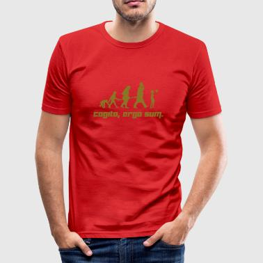 Ergo Cogito, ergo sum. (Vector) - Men's Slim Fit T-Shirt