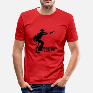 Self Will SELF - Men's Slim Fit T-Shirt