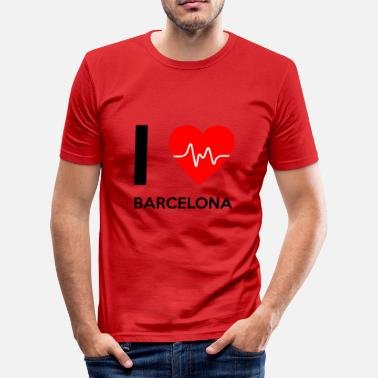 I Love Barcelona I Love Barcelona - I love Barcelona - Men's Slim Fit T-Shirt