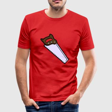 Zaag, handzaag, professioneel - slim fit T-shirt