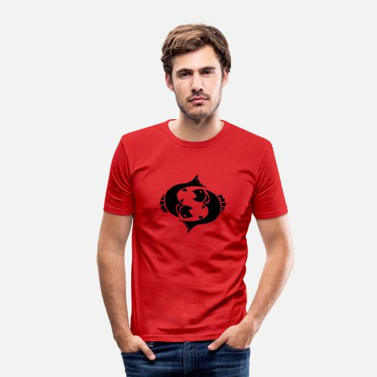 Astrology T-Shirts - Pisces - Men's Slim Fit T-Shirt red