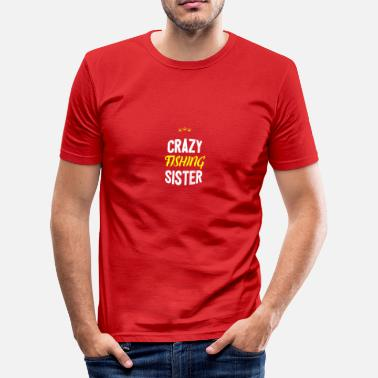 Crazy Fish Distressed - CRAZY FISHING SISTER - Men's Slim Fit T-Shirt