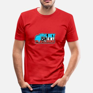 Speeltuin de lucht is mijn speeltuin - slim fit T-shirt
