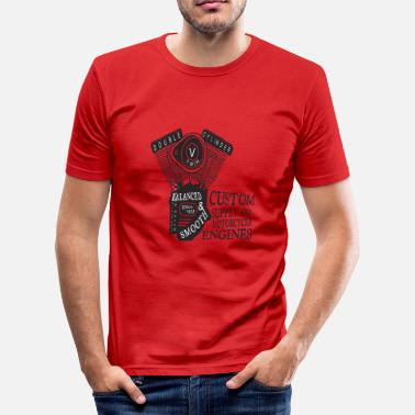 Double Sided Double Cylinder Gift - Men's Slim Fit T-Shirt