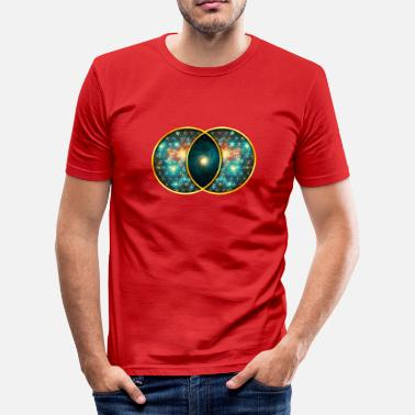 Vesica Piscis Symbol Vesica Piscis Galaxy Sacred Geometry Mathematics - Men's Slim Fit T-Shirt